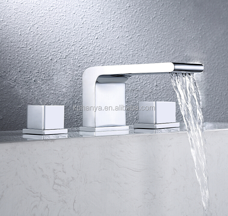 wide spread new waterfall faucet