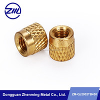 high quality brass injection knurled nut cnc precision turning part used auto part