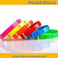 100pc quality wholesale or retail sales promotion cute star rivet TPU dog collar & cat collar waterproof dog collar pet products