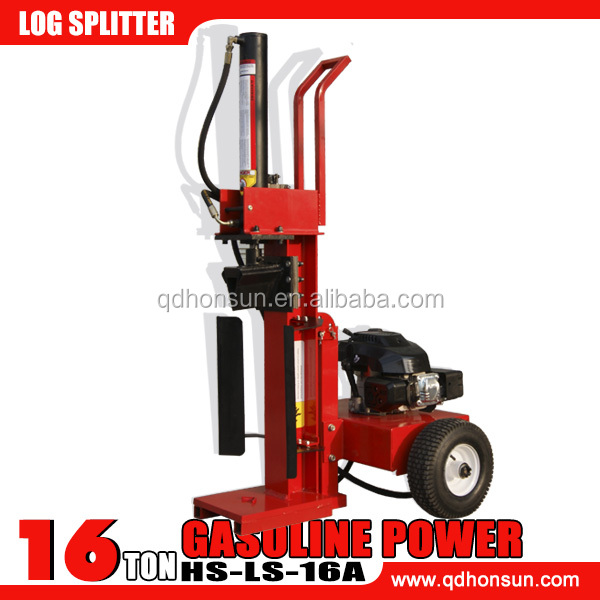 China supplied high efficiency hydraulic B&S VANGUARD petrol engine hot sale 16ton log splitters