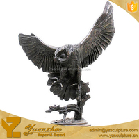 Garden Cast Brass American Eagle Sculpture