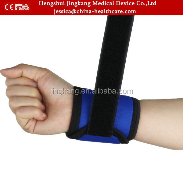 High quality power weight lifting wrist wraps / CE FDA proved adjustable nylon wrist wraps support