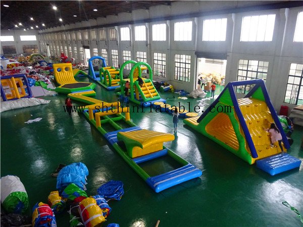 adult inflatable water park/ water park equipment/ aqua park floating island