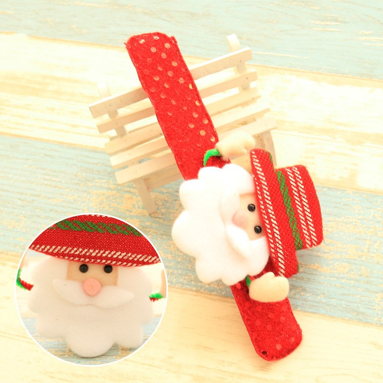 Christmas Sequins LED Light Luminous Santa Claus Elk Snowman Bracelet