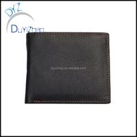 China factory wholesale custom real Leather purse,custom men wallet wholesale