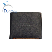 China factory wholesale custom real Leather purse,custom men wallet wholesale