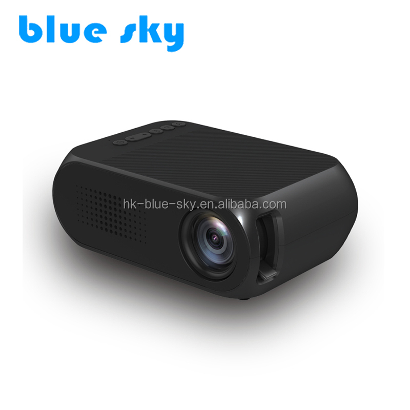 YG320 Cheap price New portable family mini LED projector portable pocket projector Black Colour