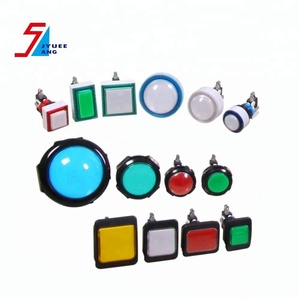 Square or Round LED Push Button Switch for Arcade Game Machine or Slot Kits