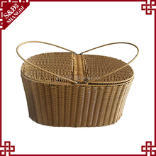 S&D cheap wholesale food grade plastic wicker weaving picnic basket
