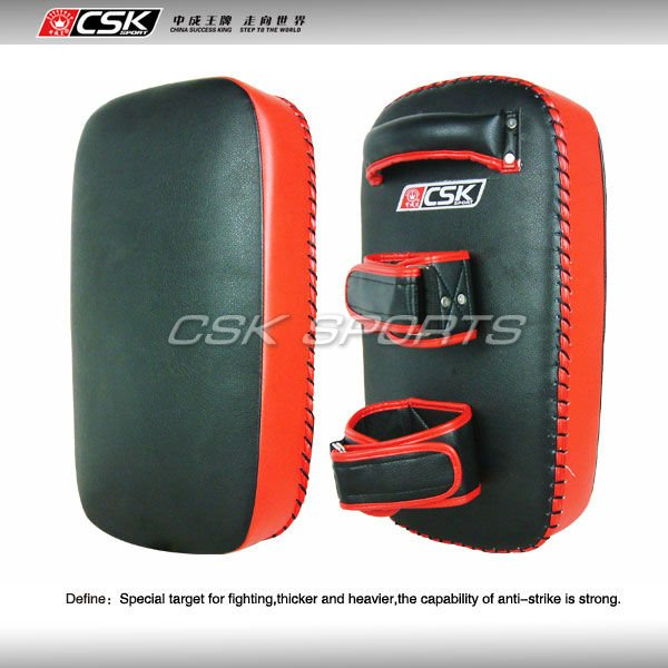 Leather Thai Pad Kick boxing bag MMA training arm Punch