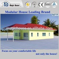 Hot sale ready made strong steel frame prefabricated sandwich panel house