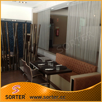 decorative metal mesh fabric drapery curtain for hotel lobby