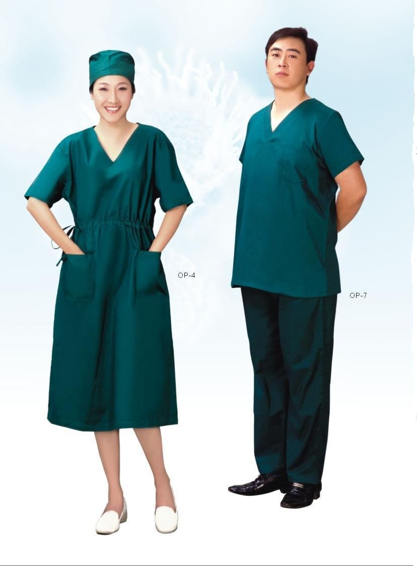 high quality hospital cotton doctor apron in operation room