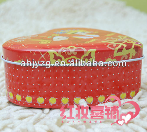 heart shaped wedding candy tin box
