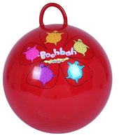 Kids play PVC inflatable jumping ball with handle