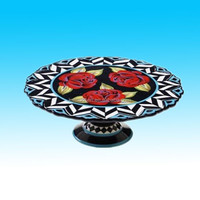 Handmade colorful Classic Ceramic Rose Cake Stand&holder for wedding