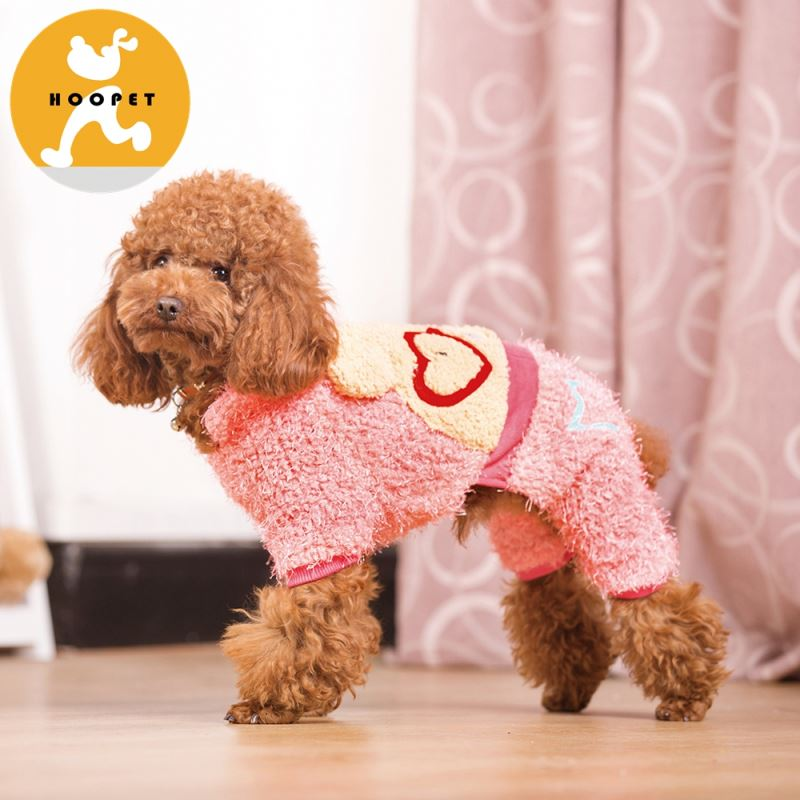Pink cartoon winter jacket dog clothes pet jumpsuit