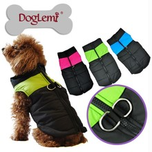 Wholesale D-ring Dog Winter Coat Dog Warm Zip-up Clothes