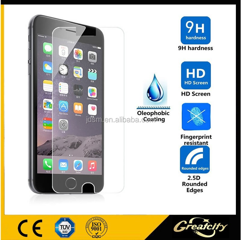 For iPhone 6 tempered glass film with pretty package,screen protector with design