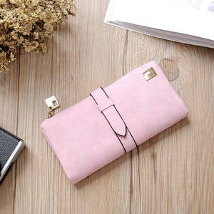 WA99 2018 lady Wallets PU Leather Long Wallet Portable Cash Purses Casual Standard Wallets
