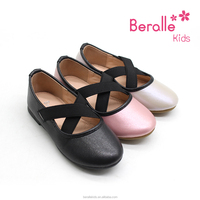 Latest design hot wholesale flat kids causal ballerina shoes for girls