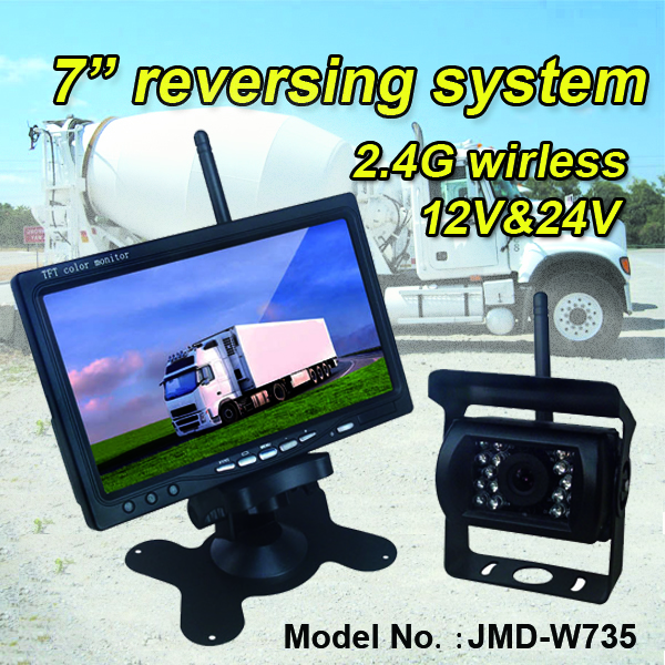24V 2.4G wireless bus CCTV monitor and camera intelligent parking assist system