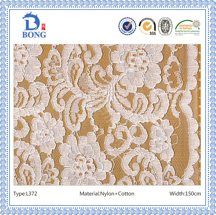High quality cotton tulle roll lace fabrics wholesale