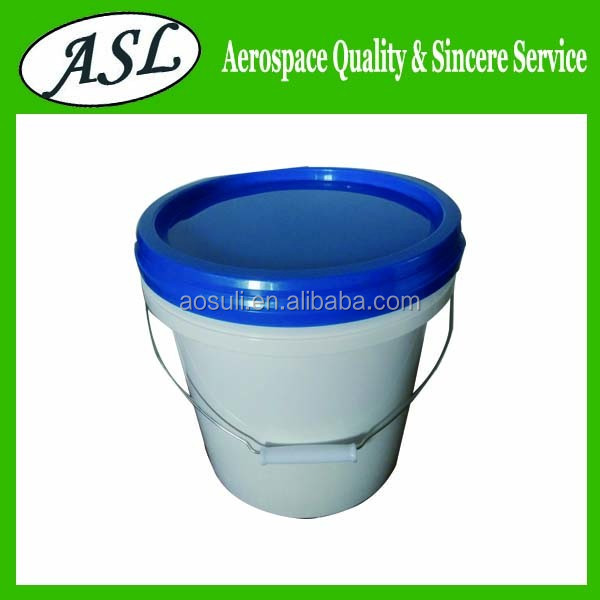 Home garden multifunction pail ribbed plastic bucket 10 liter