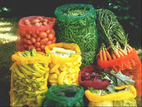 45x75, 50x80 Raschel mesh bags for vegetables