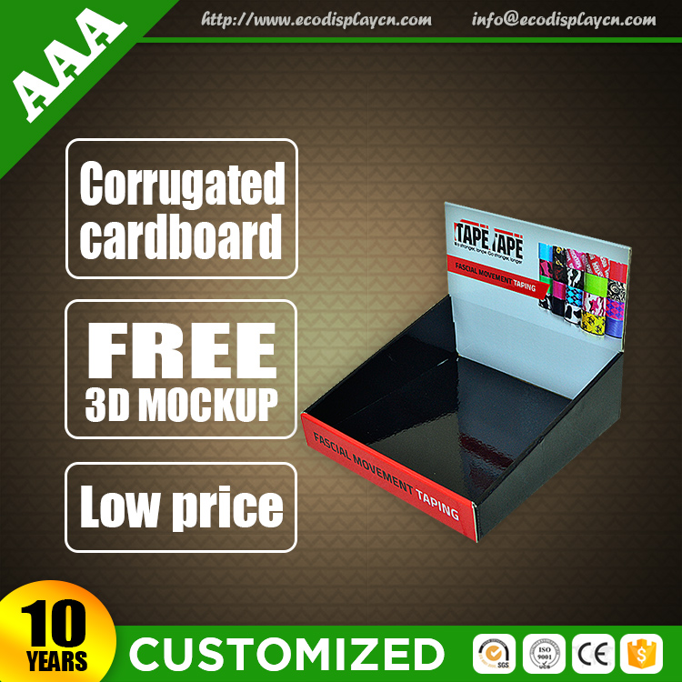 Cheap Price Accept Cell Phone Accessory Cardboard Counter Top Display Wholesale from China