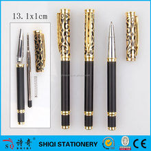 engraved pen graceful present black OEM logo gold metal pen