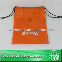 Nice Workmanship 210D Waterproof Nylon Drawstring Bag With Front Zipper Pocket