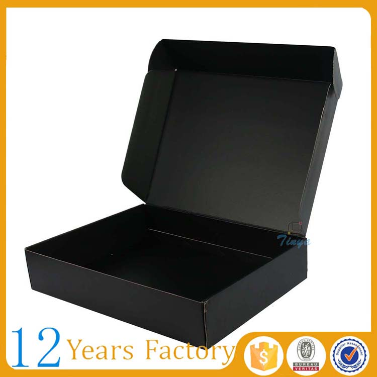 black paper recycled packaging clothes gifts boxes