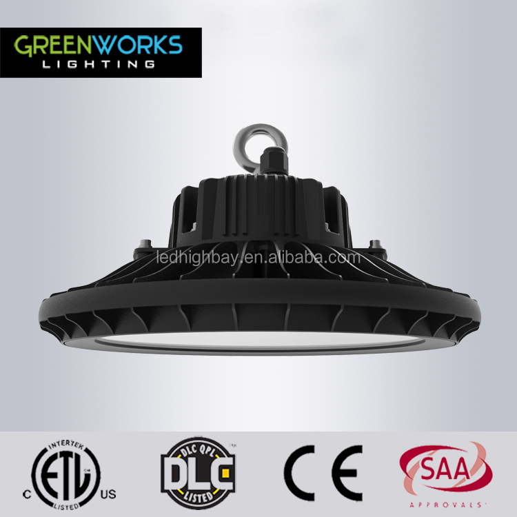 ETL DLC approved 5 years warranty 130lm/W 250w led high bay light dimmable with nichia chip