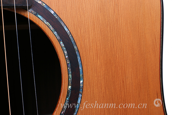 Finlay FG-A60 guangzhou wholesale good quality electric acoustic all solid wood guitar