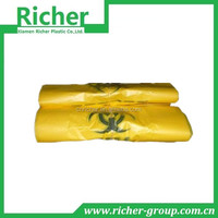 LARGE SIZE YELLOW COLOR PLASTIC GARBAGE BAGS INDUSTRIAL MADE
