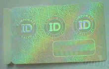 customized hologram overlay printer id <strong>card</strong>,Security hot stamped hologram overlay for PVC <strong>cards</strong>