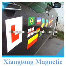 China Car Sticker Magnetic Sheets With Glossy Vinyl 0.5mm Tickness Vehicle Signs Flexible Rubber Magnet