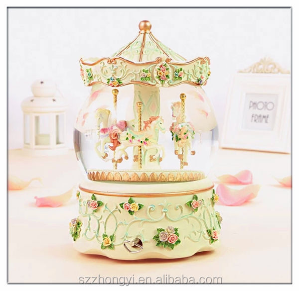 2014 hot new product merry-go-round china wholesale music box