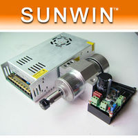 300W CNC Machine Air Cool Spindle Motor Kit Power Supply PWM Speed Controller With Mount Bracket