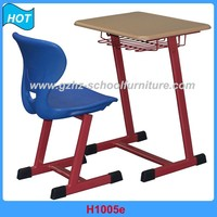 Duarabl PP Injected Education School Furniture Study Table and Chair Single Seat