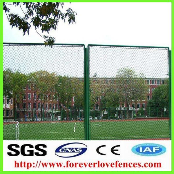 School Plastic/PVC Coated Chain Link Fence