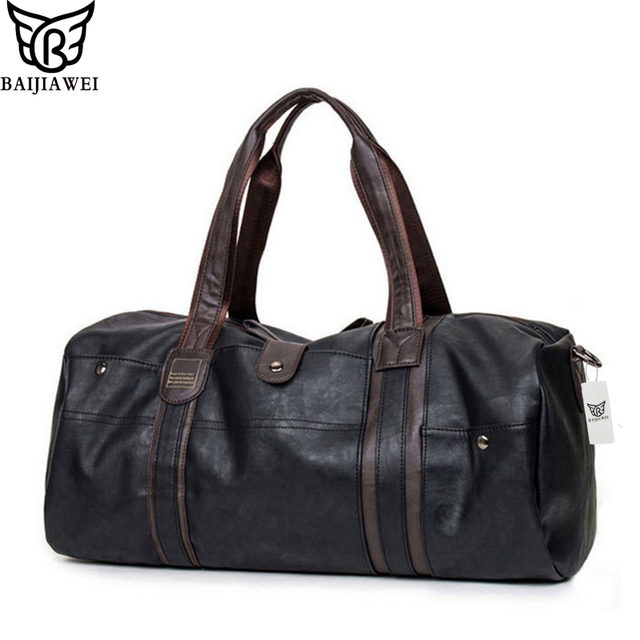 BAIJIAWEI New Arrival Oil Wax Leather Handbags For Men Large-Capacity Portable Shoulder Bags Men's Casual Travel Bags Package
