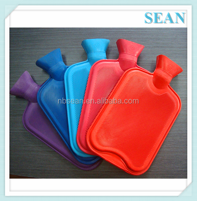 Professional bs 500ml white color rubber hot water bottle with low price