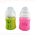 Factory Direct Food Grade Silicone Glass Baby Feeding Bottle Covers Protect Insulating