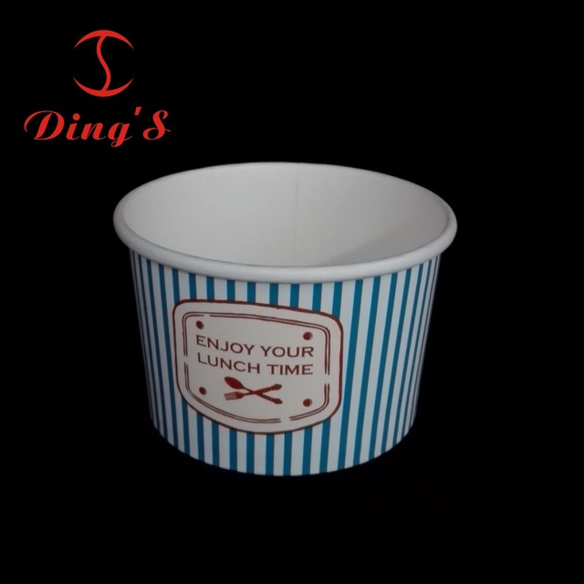Cold drink paper bowls biodegradable ice cream paper cups double PE coated containers for yoghurt