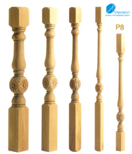 Decorative Stair Railing Wood Stair Pillar
