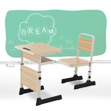 Student school desk and chair furniture chairs wholesale children desk kids study table and chair