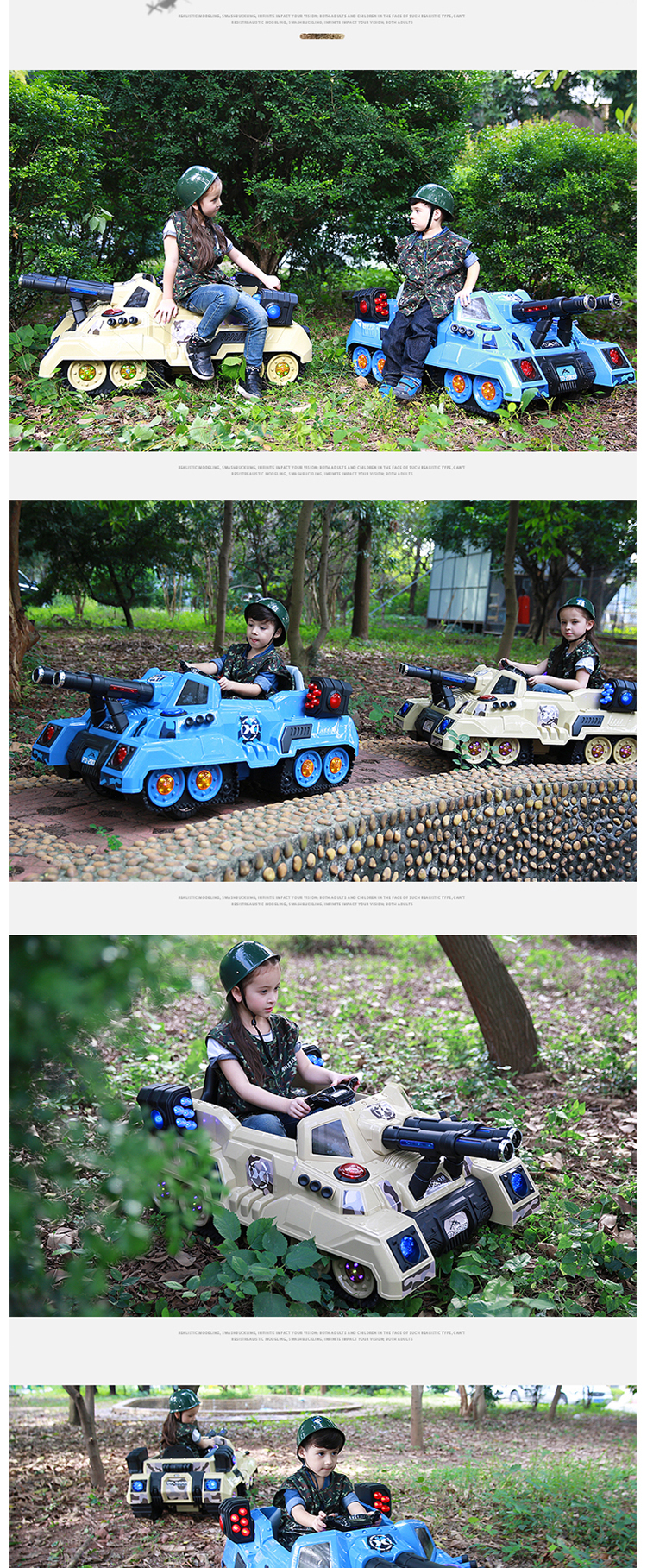 Cool Ride Kids Car 2.4G Remote Control Toy Tank With Music Light