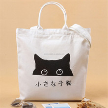 100% recycled cotton tote bags customized print canvas bag wholesale